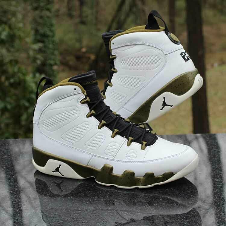 b24990be3259a6 Air Jordan 9 IX Retro Statue 302370-109 White Black Militia Green Size 10.5   Jordan  BasketballShoes