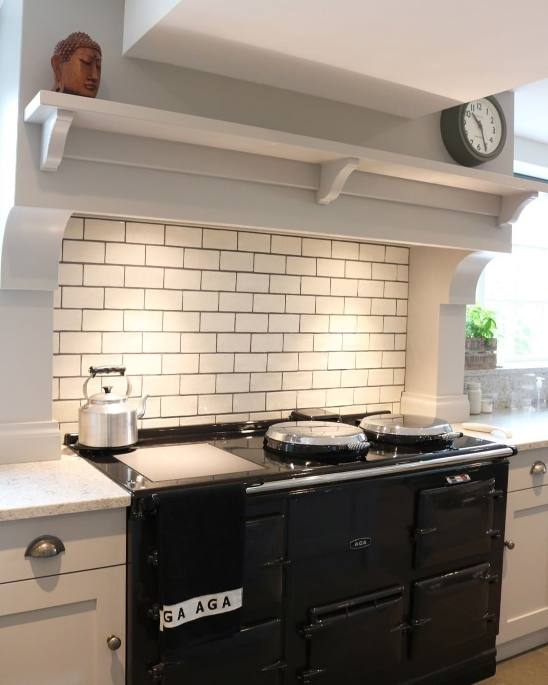 Image May Contain 1 Person Kitchen And Indoor Kitchen Mantle Shelf Cabinetry