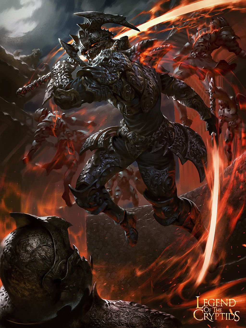 Nameless Warrior Brute - art for Legend of the Cryptids by