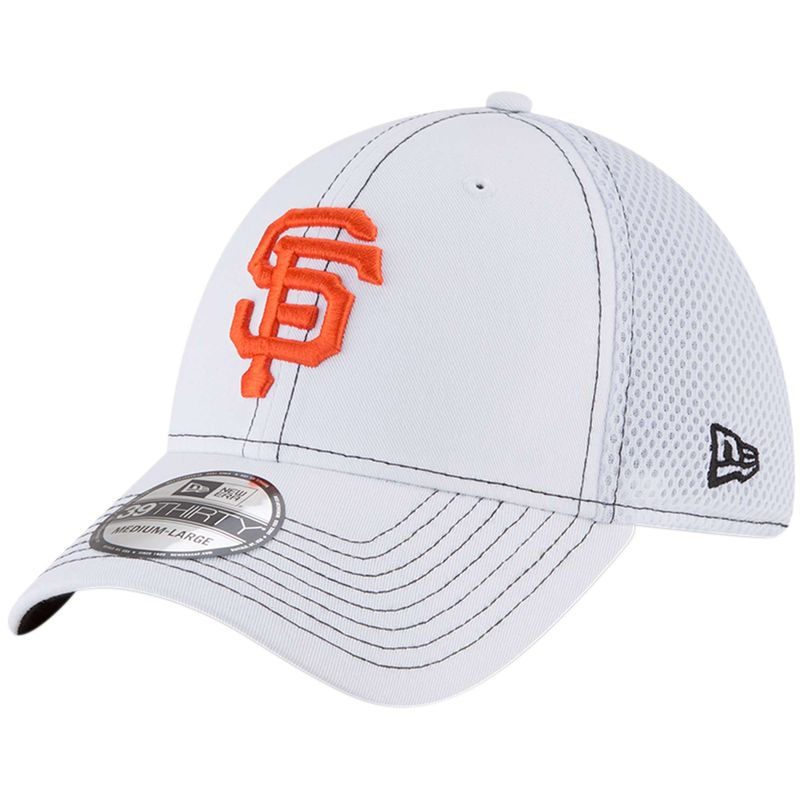 low priced 2fc3f 646a2 San Francisco Giants New Era Team Turn Neo 39THIRTY Flex Hat - White