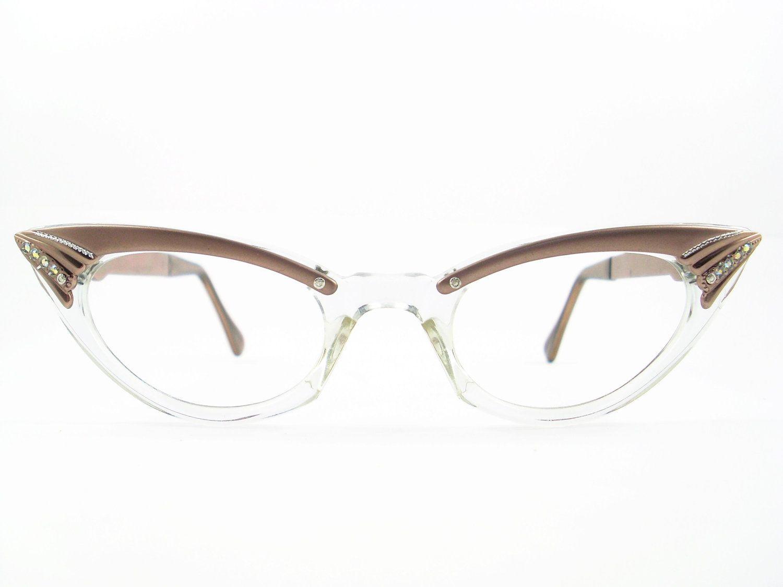 Vintage 50s Cat Eye Glasses  Frame Eyeglasses Sunglasses New