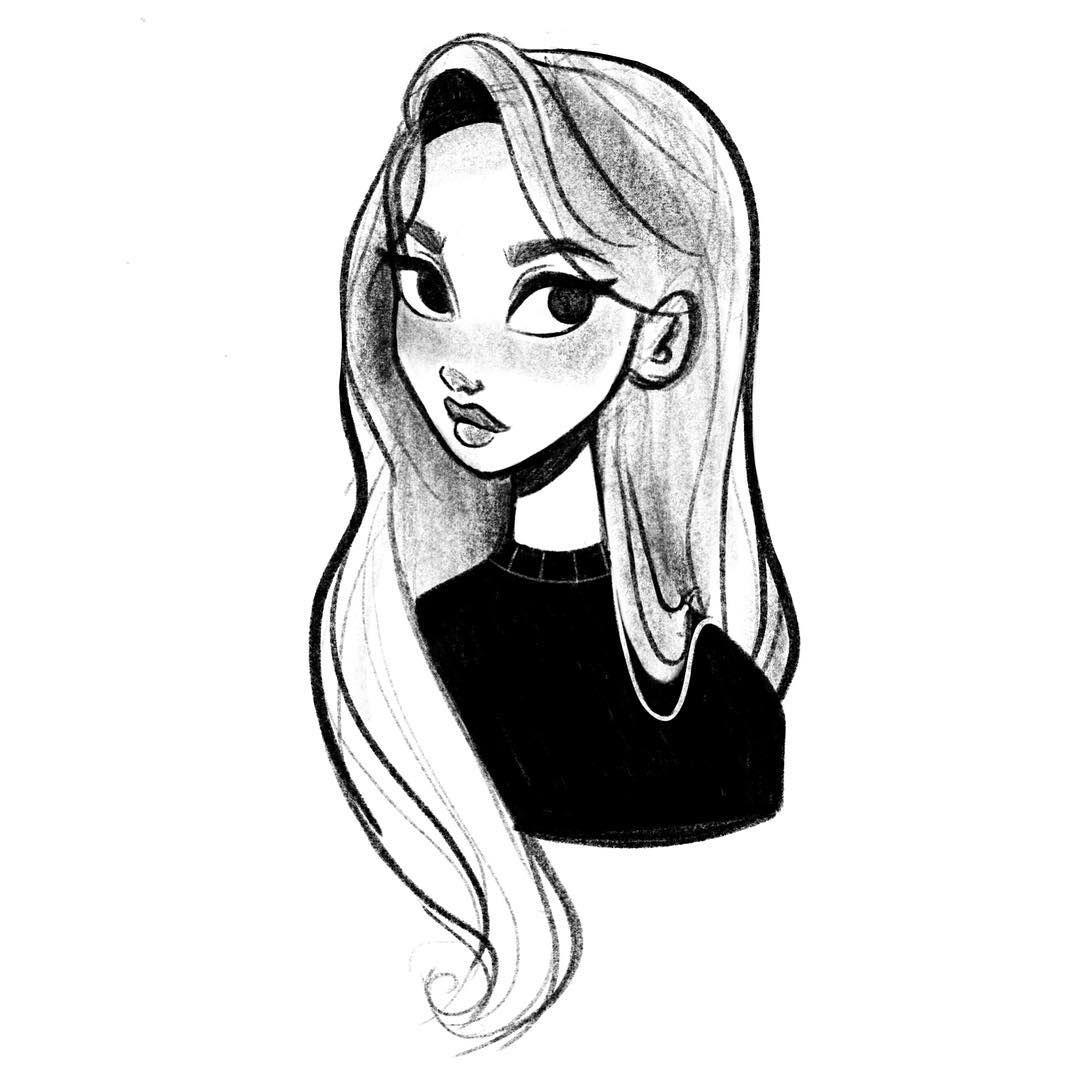 Georgiesketches On Instagram Basic Girl Doodle Drawing Sketches Sketching P In 2020 Girl Drawing Sketches Cool Art Drawings Cartoon Art Styles