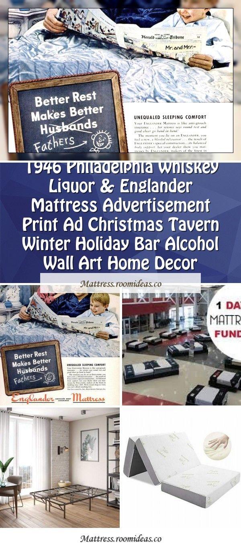 1946 Philadelphia Whiskey Liquor & Englander Mattress
