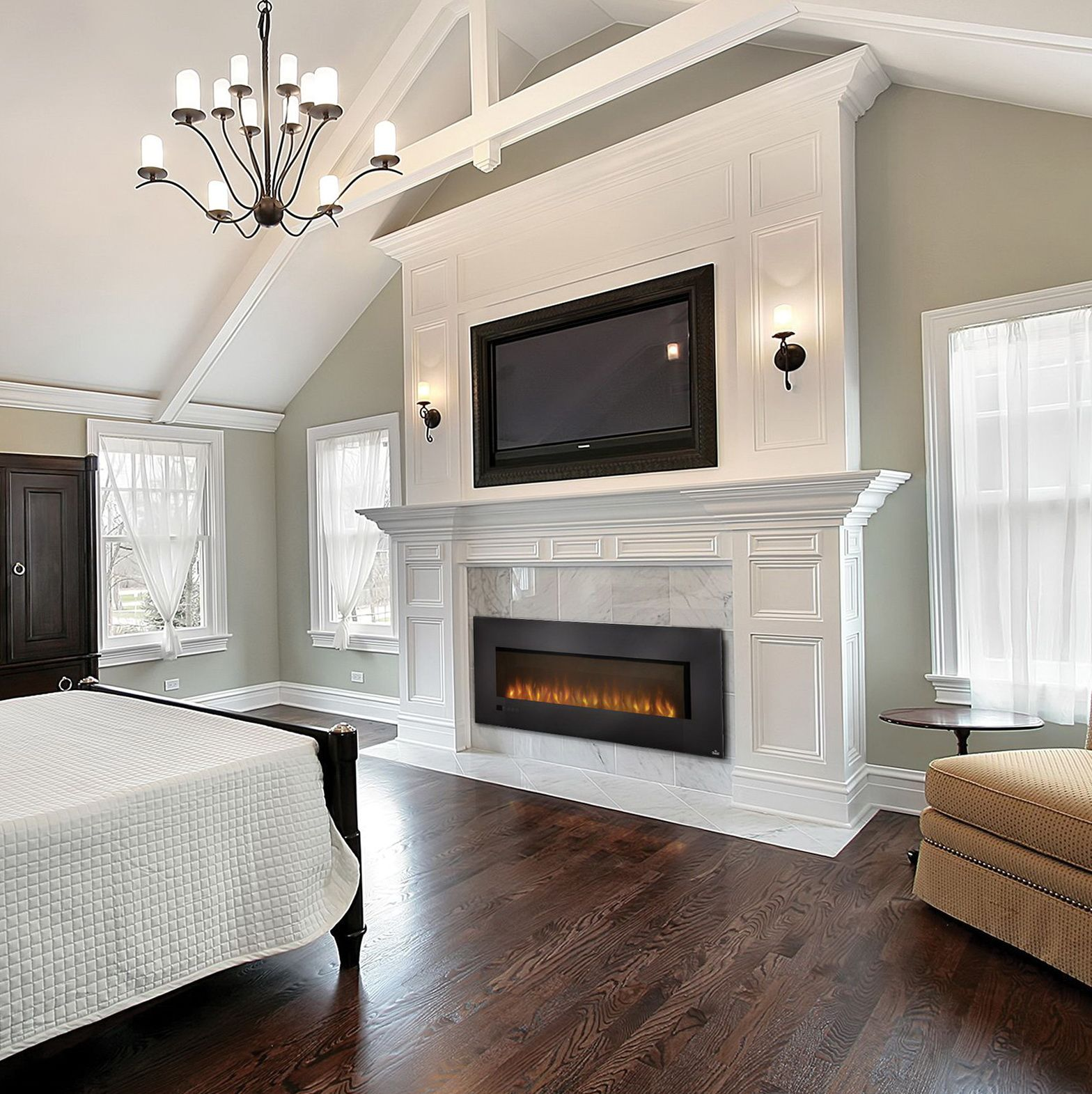 Bedroom electric fireplace - Large Electric Fireplace Insert