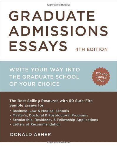 Graduate Admissions Essays, Fourth Edition Write Your Way into the - sample personal financial statement example