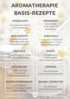Die 12 besten Aromatherapie Basisrezepte + PDF