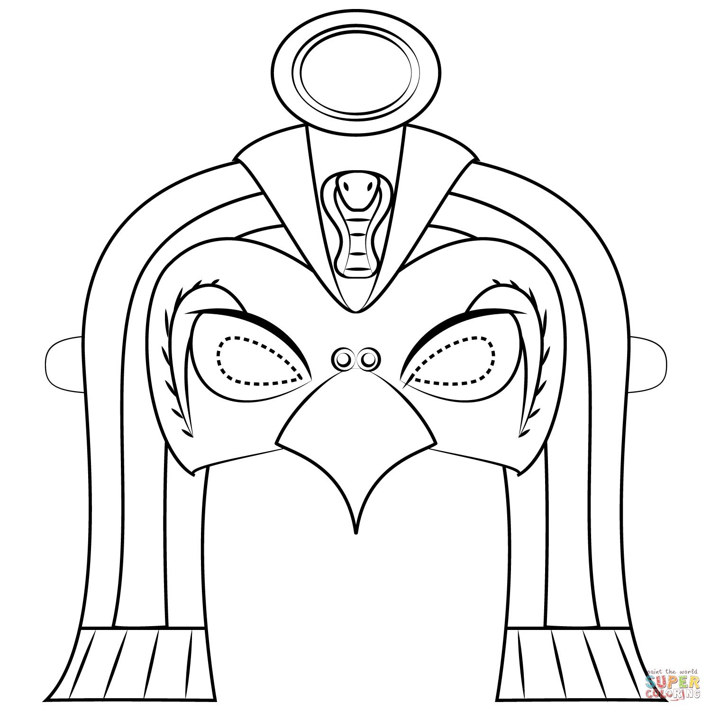 Egyptian God Ra Mask Coloring Page