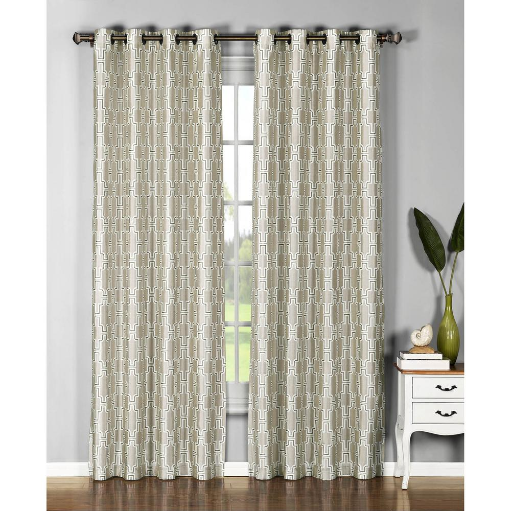 Window Elements Wesley 54 In W X 96 L Faux Silk Grommet Extra
