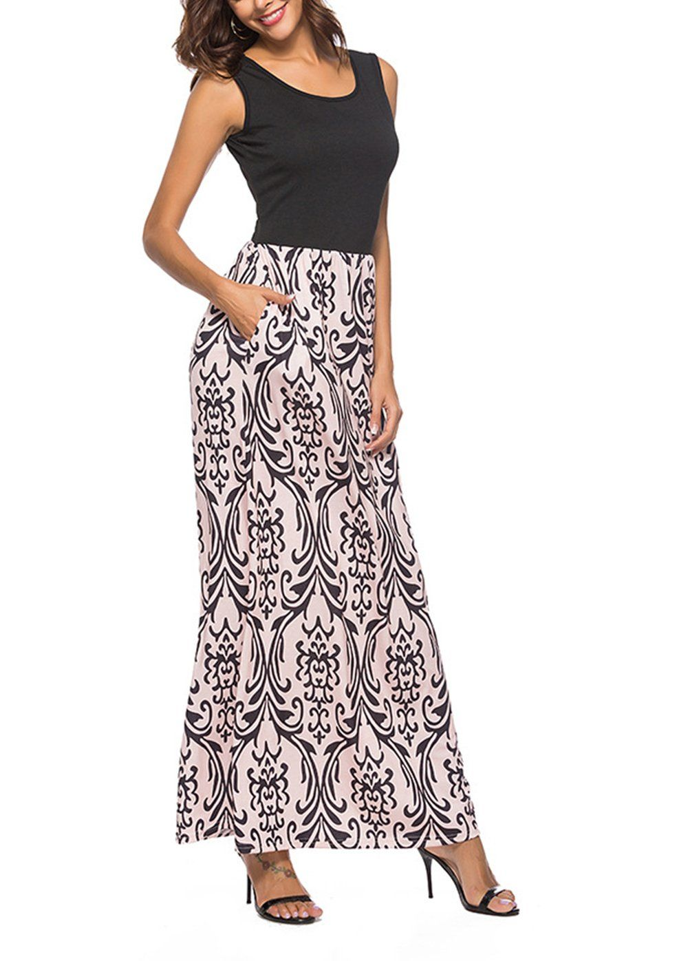 feaead98c07 Women Maternity Clothes - FREEMODE Womens Summer Sleeveless Maxi ...