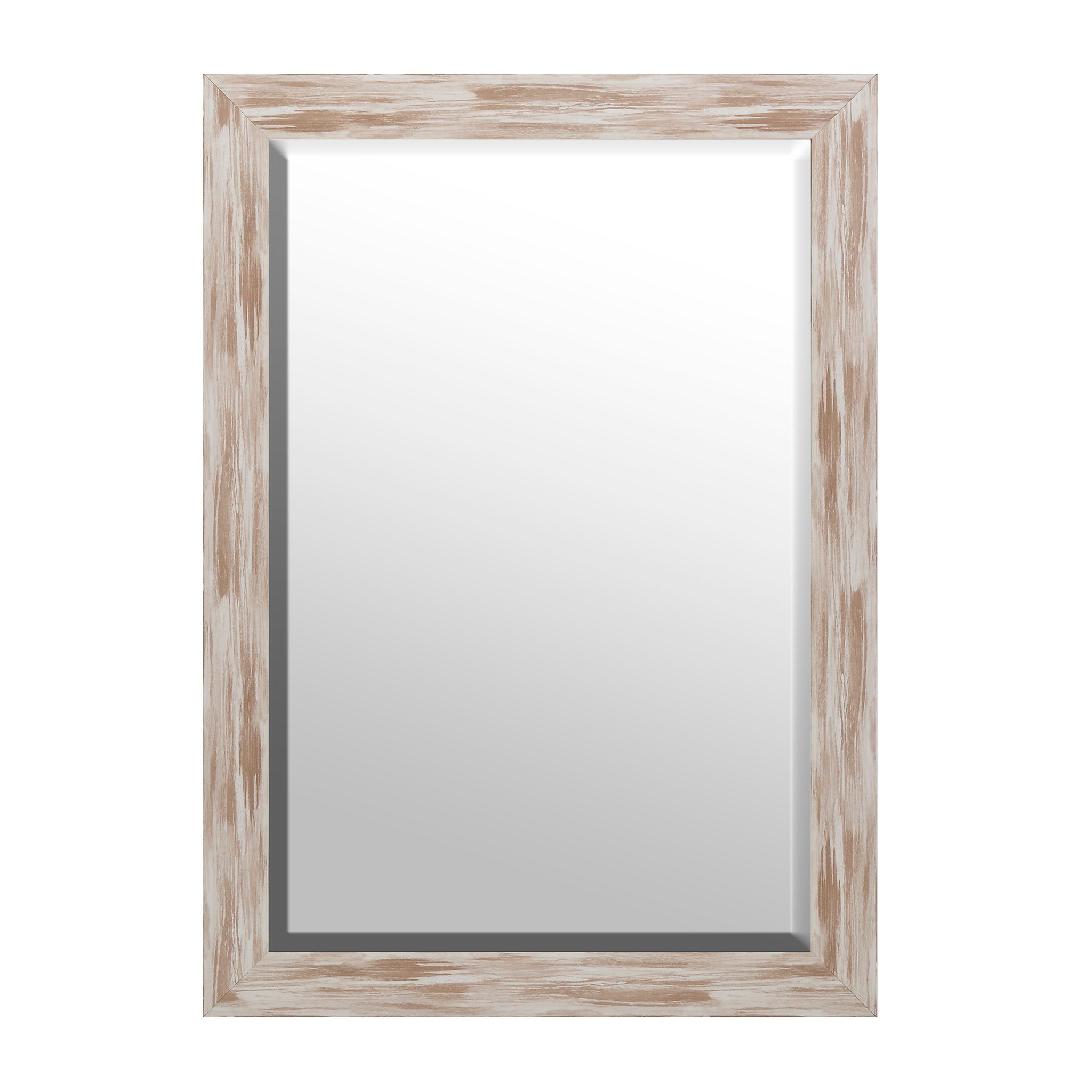Distressed White Driftwood Framed Mirror 30x42 Driftwood Frame White Mirror Frame Mirror Frames