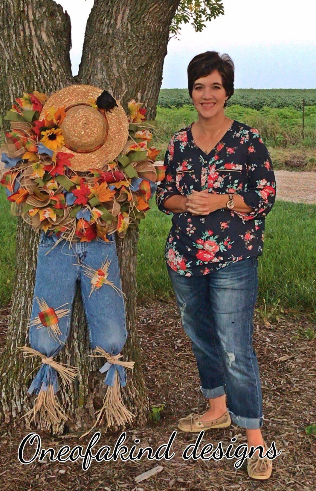 Scarecrow Wreath Tutorial Scarecrow Wreath Diy How To