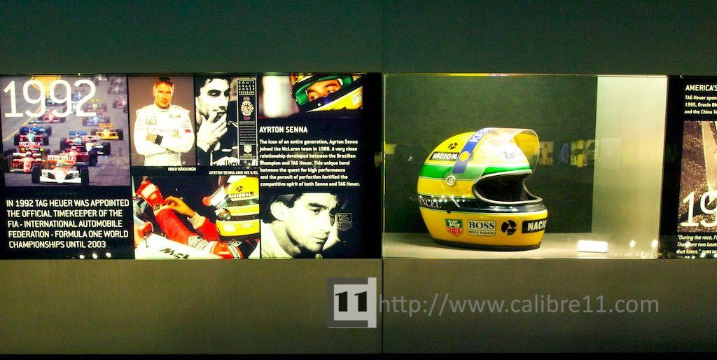 Ayrton Senna's helmet in the TAG Heuer Museum   Formula 1   Tag