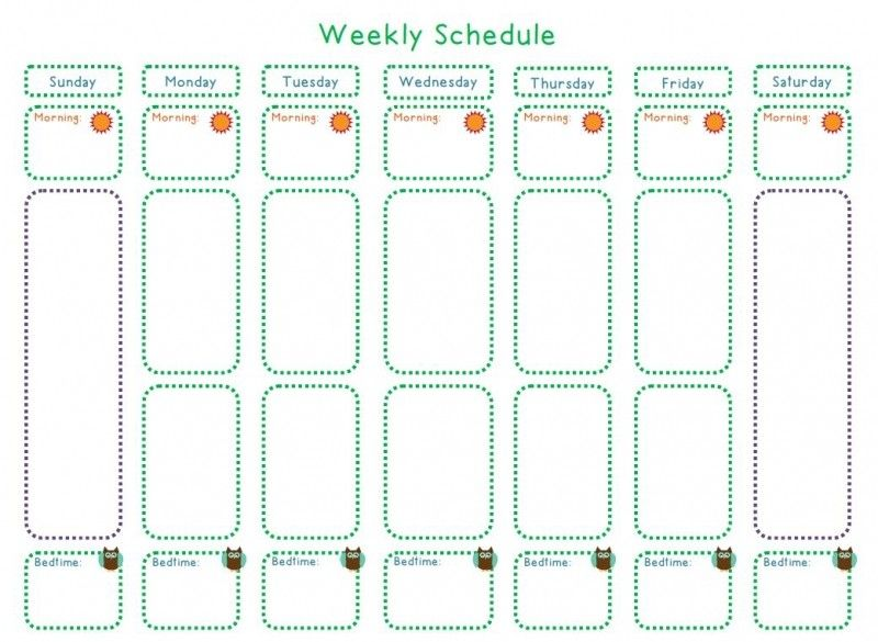 Blank Weekly Workout Schedule Template – Workout Schedule Template