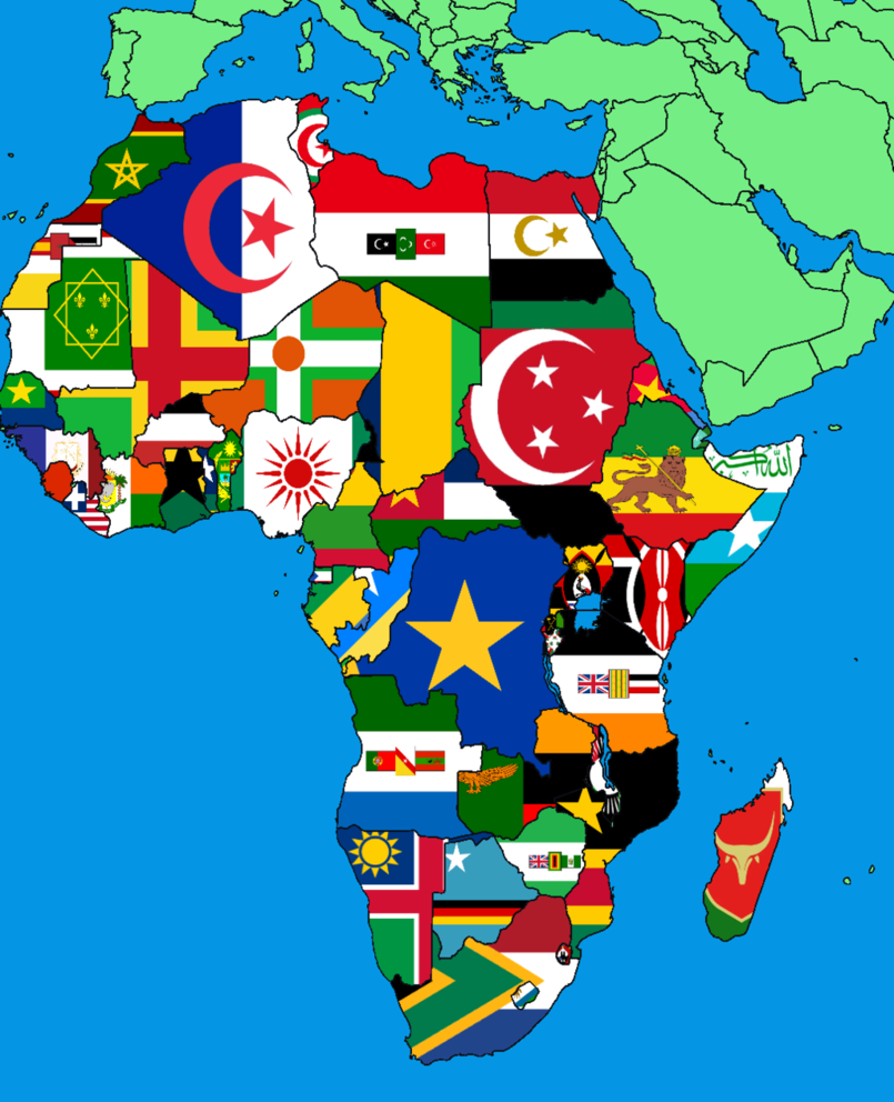 Map Of Africa With Flags.Alternate Africa Map By Ivanbordart Alternate Flags And Maps