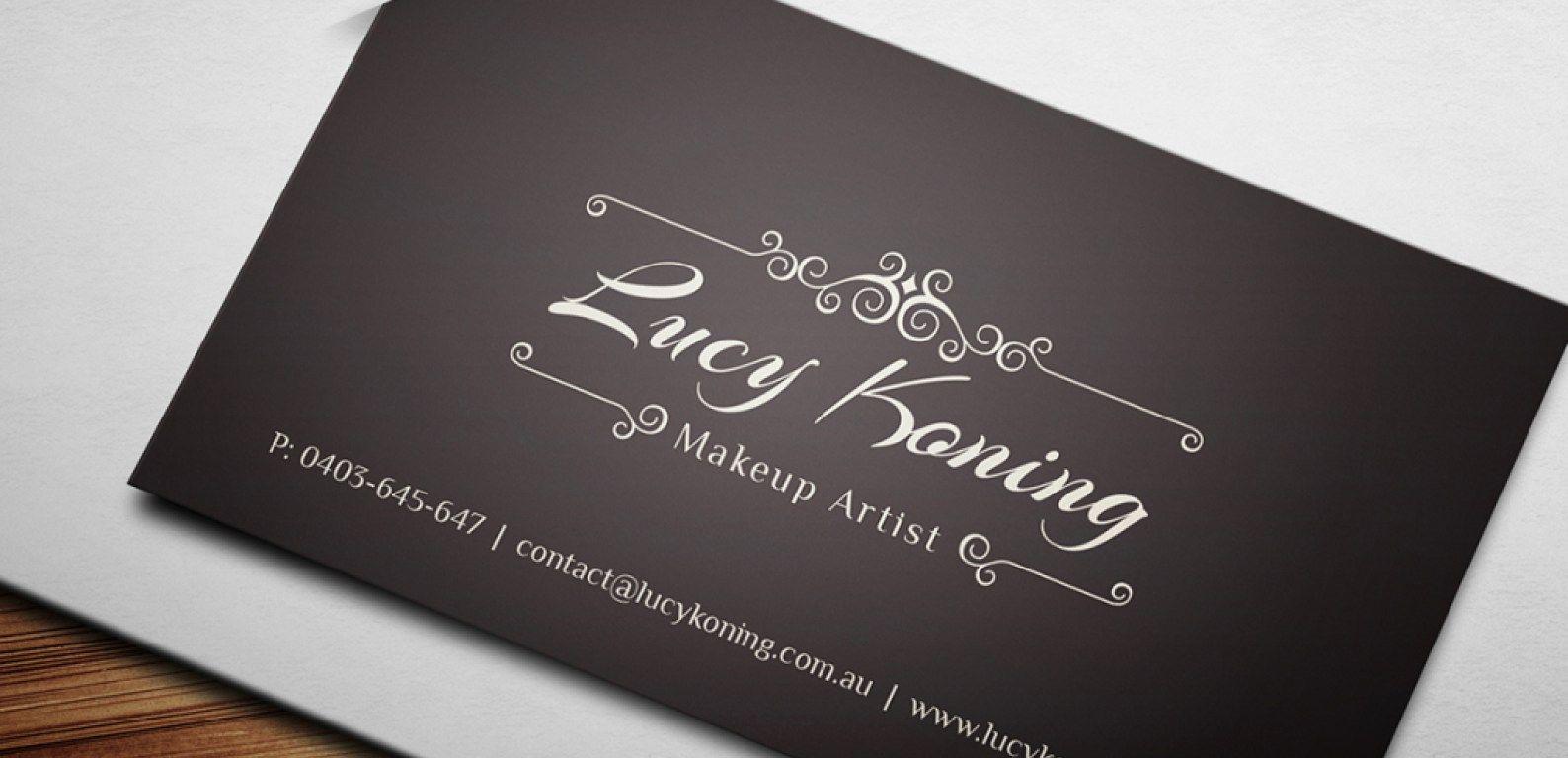 Make Up Künstler Visitenkarte Beispiel Mit Freelance
