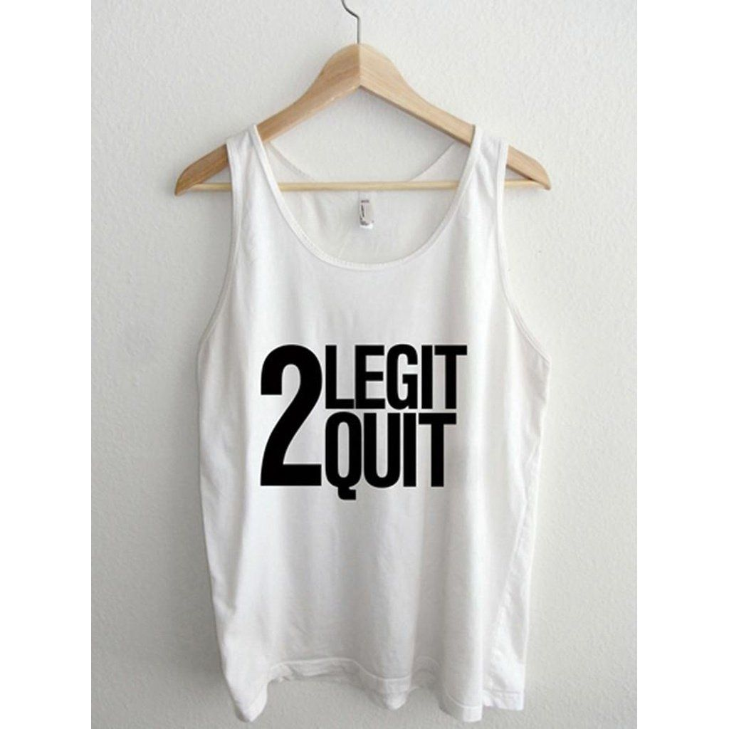 0bc23351b01997 2 Legit 2 Quit Vintage Retro 90 s Typography Unisex Sheer Jersey Tank Top  by American Apparel Made In  United States Shipped From  United States Lead  Time  ...