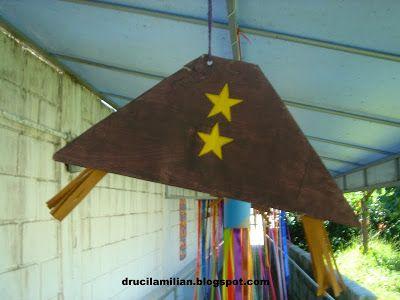 Arteirices da Dru: Decoração Festa Junina - Bandeirinhas Chapéu Nordestino