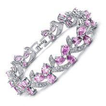 SJB10212 Nobre e Elegante Design de Jóias Cúbicos de Zircônia Rosa Cobre Prata…