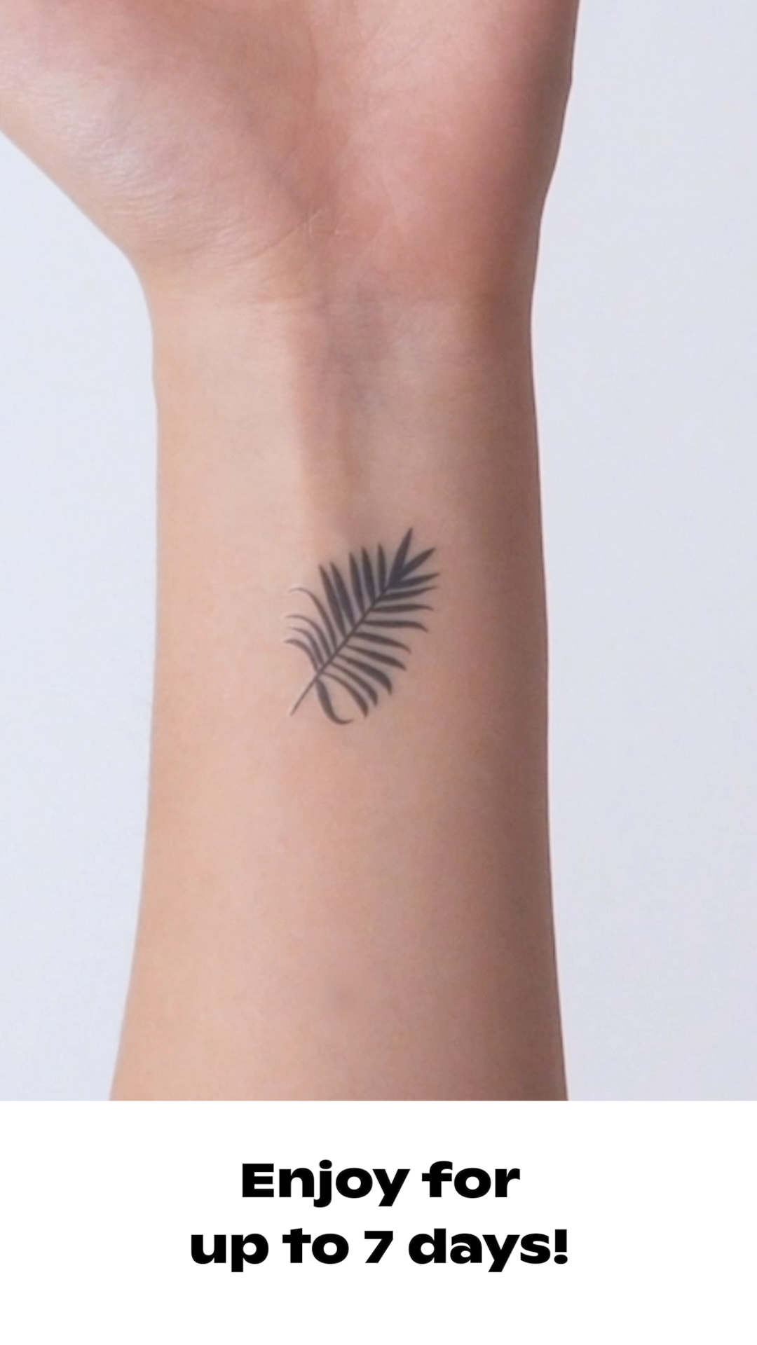 Instant Tattoo applies in 10 seconds without water