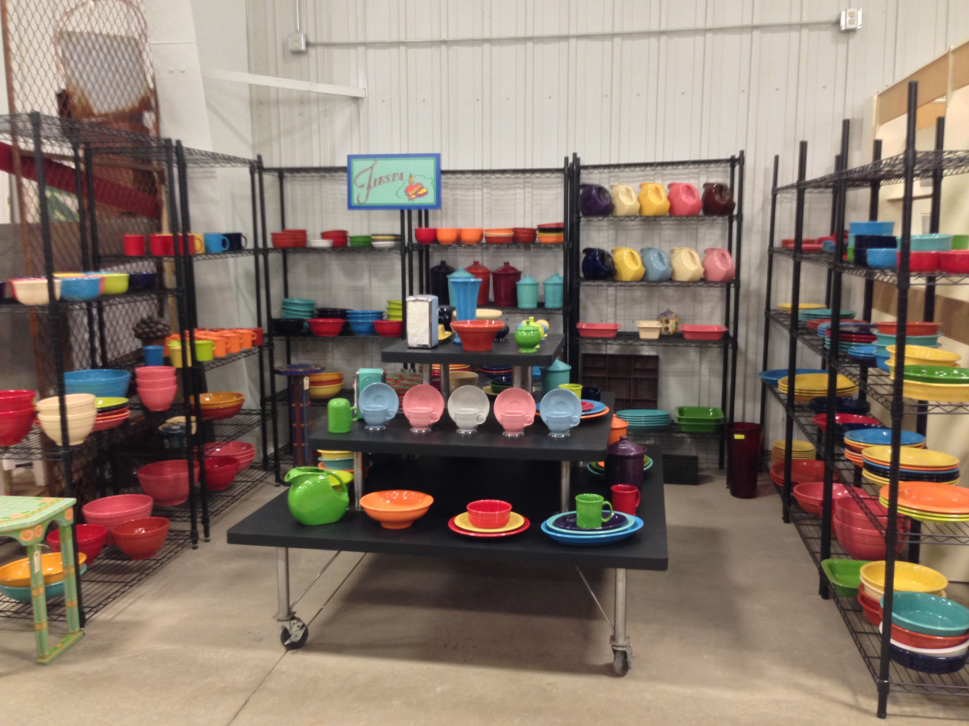 Beautiful & Colorful Fiesta Booth at Midway Antique Mall, on I-70 ...