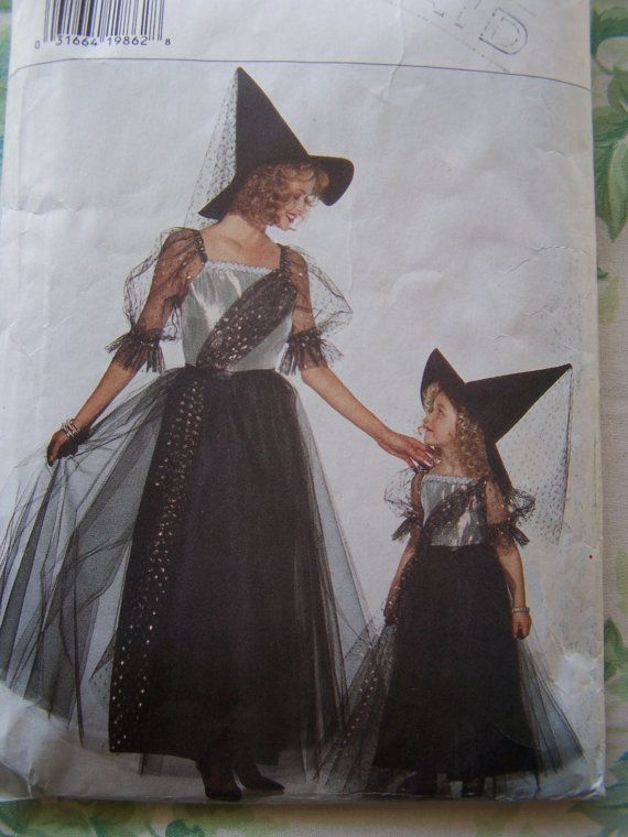 Butterick 3588 Witch Sewing Pattern, SALE Girls Glamorous Witch ...