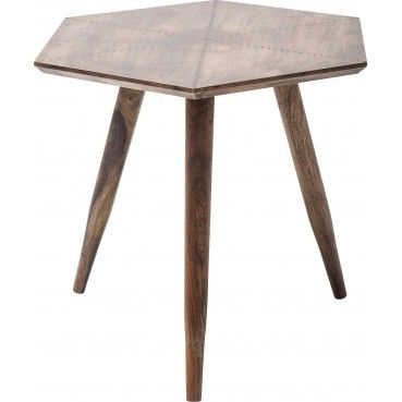 cuivre Design cmKare 50x50 d'appoint Rivet Table FJK1cl