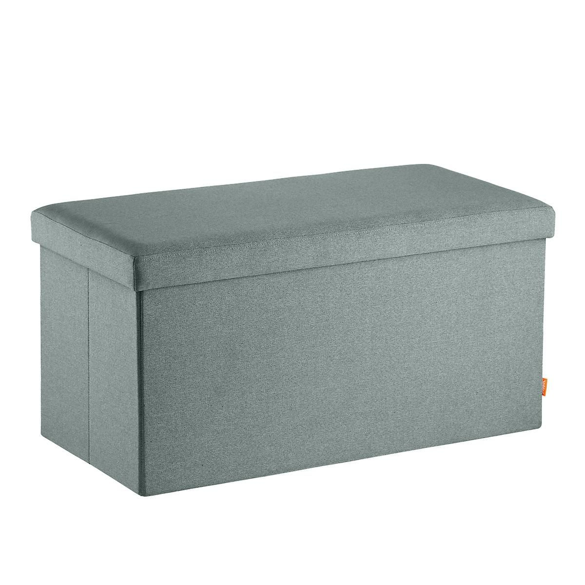 Poppin Sage Box Bench The Container Store In 2020 Storage Stylish Storage Fabric Storage Cubes