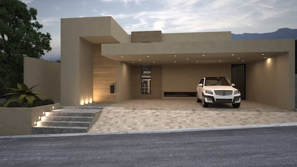 Fachada principal Casas de estilo minimalista por Nova Arquitectura - casas minimalistas