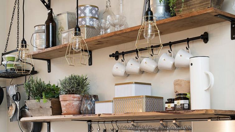 Helemaal hip: planken in de keuken keukenplant pinterest