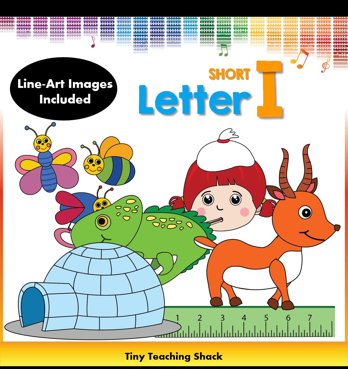 letter i clip art (short i) | clipart for teachers | pinterest