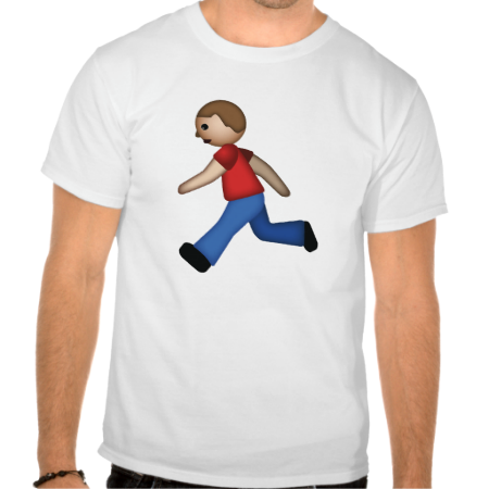 Runner Emoji T Shirt Zazzle Com Shirts Emoji Shirt T Shirt