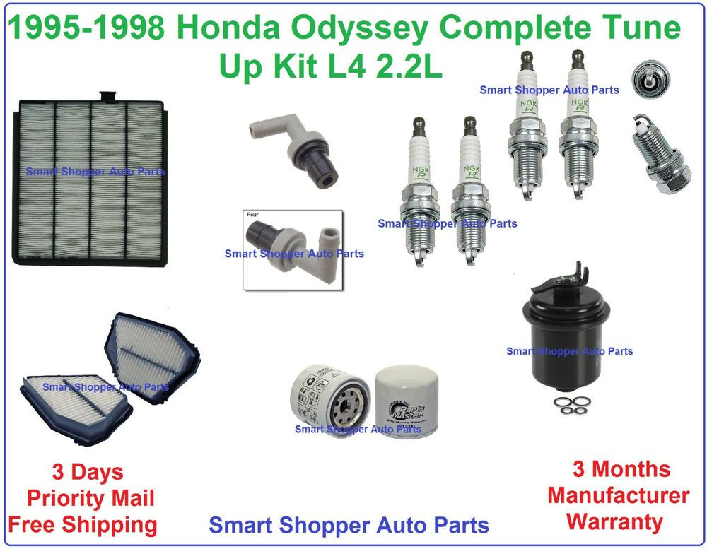 Tune Up Kit Honda Odyssey Spark Plugs Cabin Engine Filter Pcv