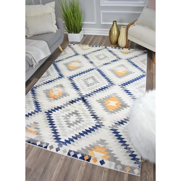 Like A Blazing Sunset With Specks Of Gold The Golden Girl Rug From Cosmoliving Sets The Scene This Diamond Motif Pr Area Rugs Yellow Area Rugs Beige Area Rugs