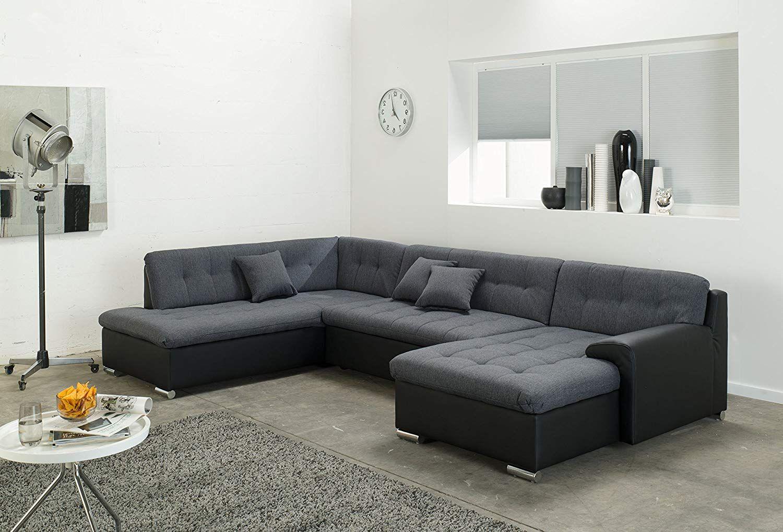 Wohnlandschaft Rocky U Form Mit Wohnzimmer Sofa Schlaffunktion