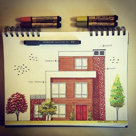 Resultado de imagen de programa dibujo mano arquitectonico - Dibujos de casas modernas ...