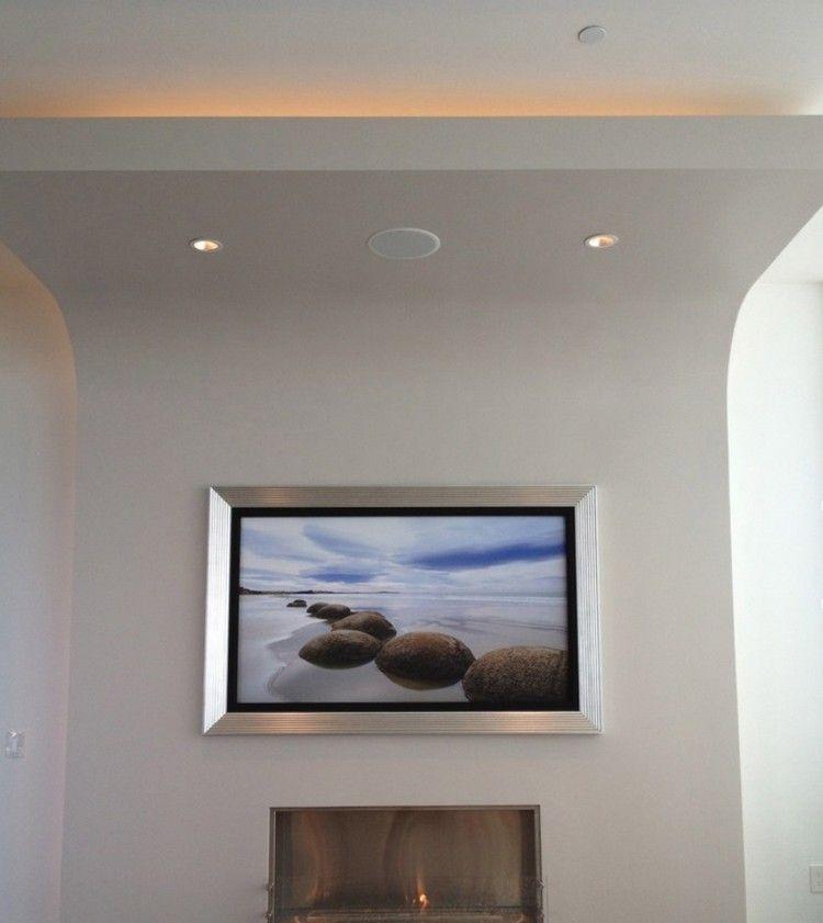 flachbild fernseher in einem zinn rahmen livingroom pinterest flachbild fernseher. Black Bedroom Furniture Sets. Home Design Ideas