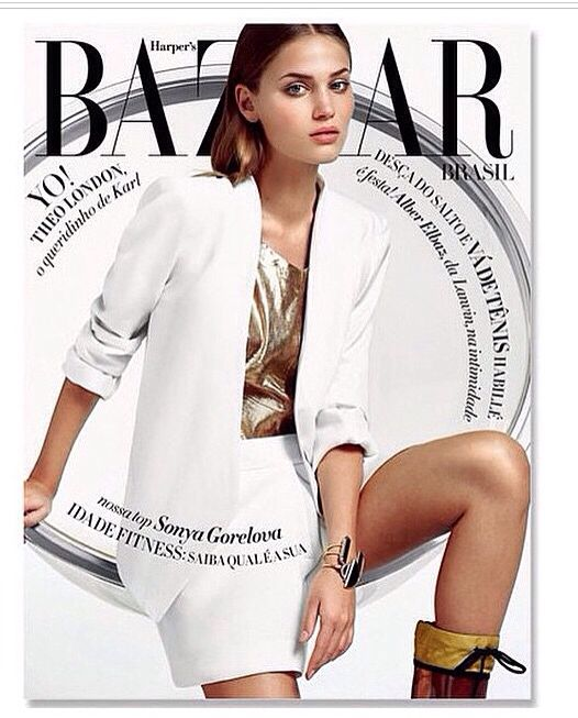 Dentro desta edição, você encontrará um pouco da SA FISCHER! Abra ja! Harper's Bazaar dez/2014.