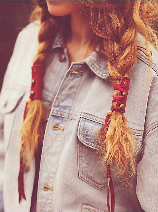 Free People One-Of-A-Kind Leather Hair Braid-Ins, $98.00