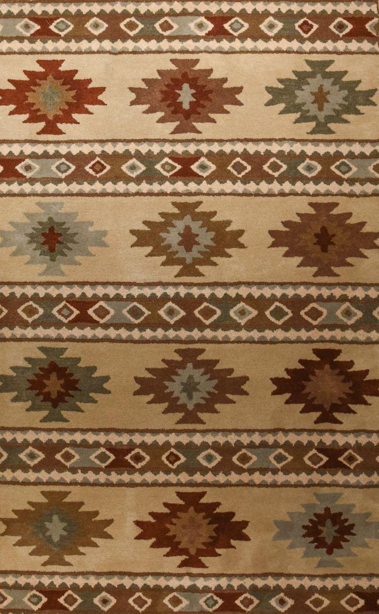 Gold Kilim Hand Tufted Southwestern Wool Rug American Home Albuquerque Santa Fe