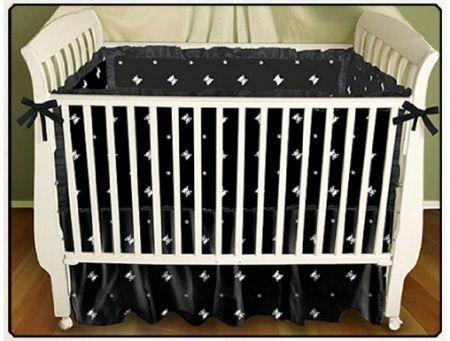 Elegant Gothic Black And White Skulls Baby Crib Bedding Set For A Goth Or Punk Nursery Theme Pinterest Themes
