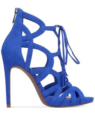 fe75d1e79ac Jessica Simpson Racine Lace-Up High-Heel Gladiator Sandals