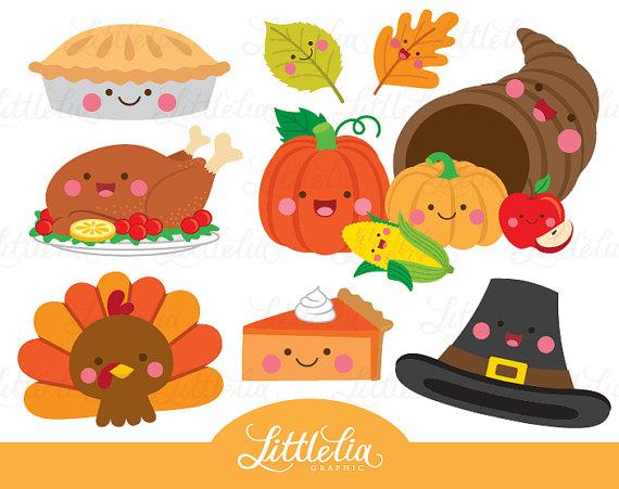 Kawaii De Accion De Gracias Thanksgiving Clipart 16091 Etsy Thanksgiving Clip Art Thanksgiving Clipart Fall Clip Art