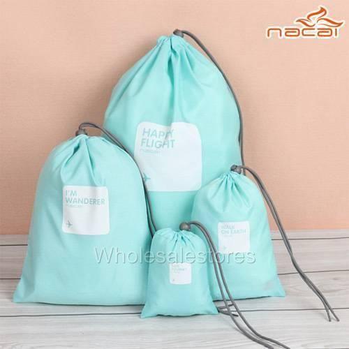Waterproof Nylon Outdoor Travel Storage Bag set SkyBlue color 4pcs من متجر برافو في جدة