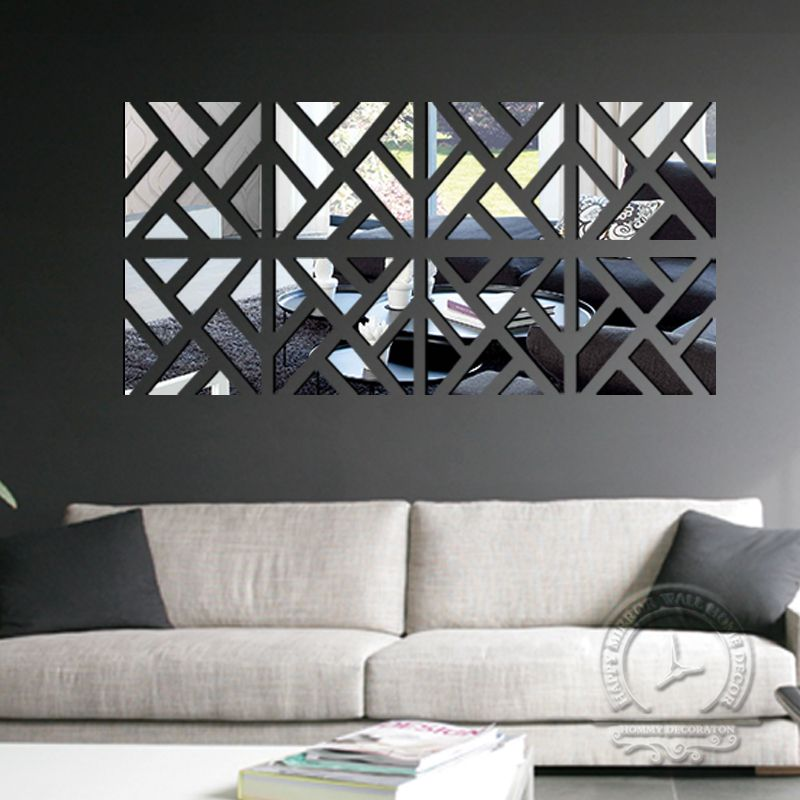 Diy Home Decoration 3d Fashion Mirror Surface Of The Mirror Wall