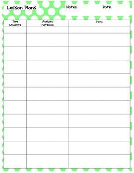 SLP Lesson Plan Template | Pinterest | Lesson plan templates ...