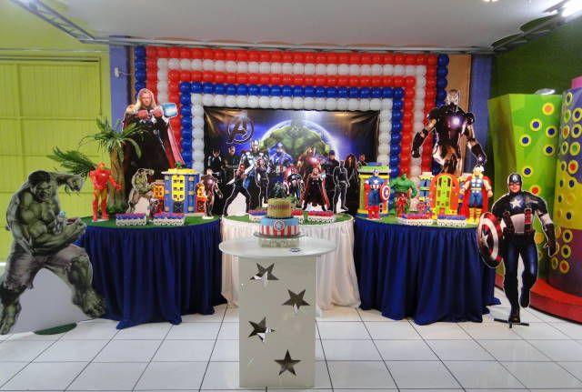 Decoraç u00e3o dos Vingadores para Festa InfantiI Festa Infantil dos Vingadores Decoracao  -> Decoração De Festa Os Vingadores