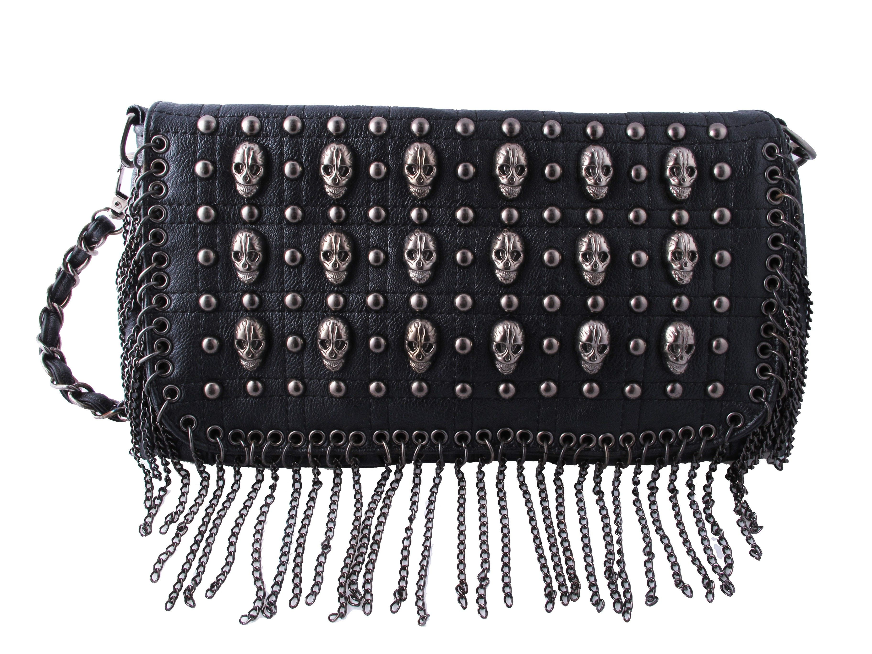 SAC - Multi Skull Chain Purse available in the #inkedshop visit us online at www.inkedshop.com/accessories/women/handbags/multi-skull-chain-purse.html