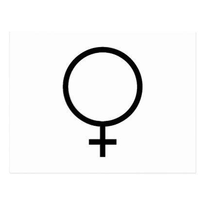 Female Symbol Postcard Logo Gifts Art Unique Customize Personalize