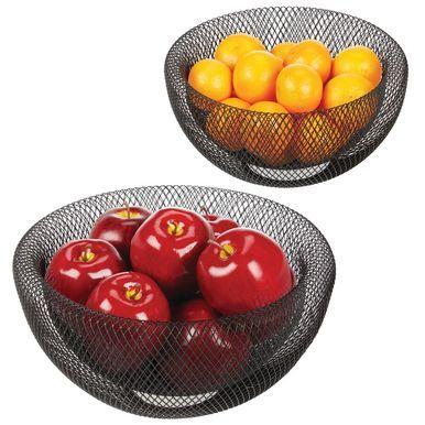 Fruit Bowl Mesh Wire Basket Holder