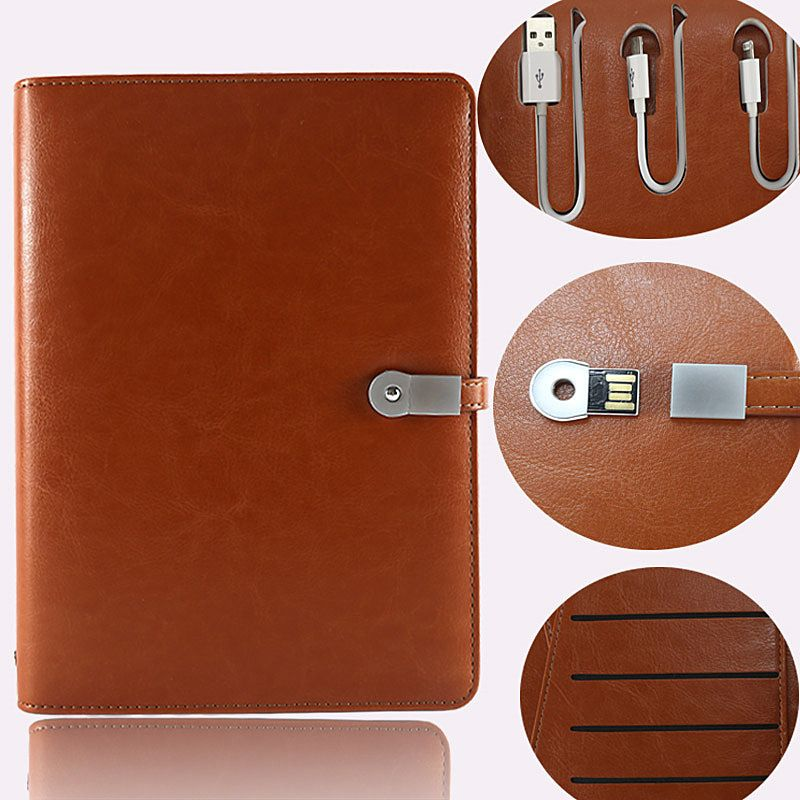 customized corporate gift, notebook organiser with USB and power bank  together, custom cre… | Business promotional gifts, Corporate gifts,  Corporate christmas gifts